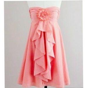 J Crew cocktail strapless pink rosey dress